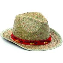 Sombrero de paja sencillo personalizado natural