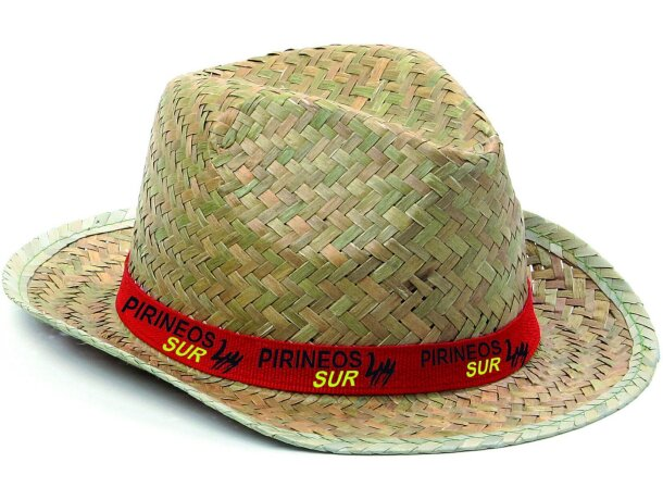 Sombreros de Paja Personalizados con logo y cinta publicitarios ee4f8ea825a