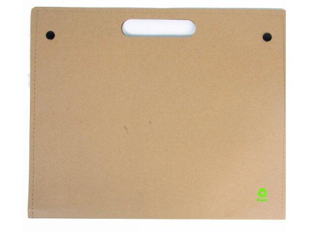 Portafolios de cartón reciclado con bloc y marcadores personalizado