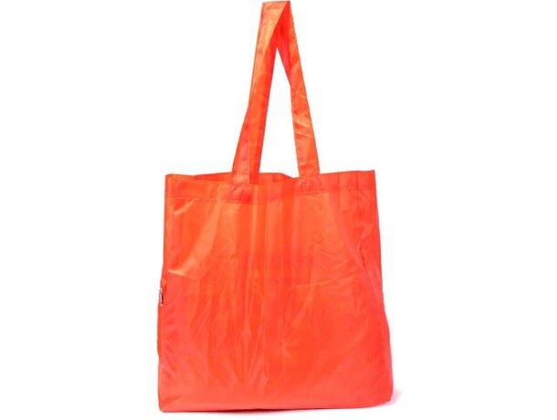 Bolsa plegable con cremallera naranja