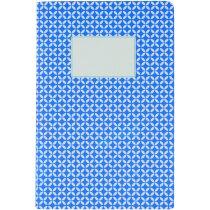 Libreta tamaño A5 con tapas de cartón estampadas azul