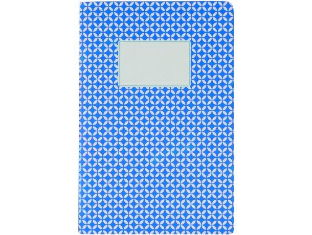 Libreta tamaño A5 con tapas de cartón estampadas barata azul