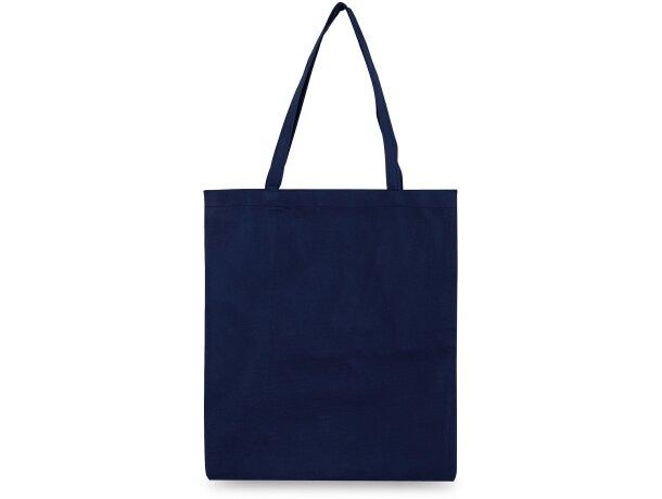 Bolsa de tela no tejido azul