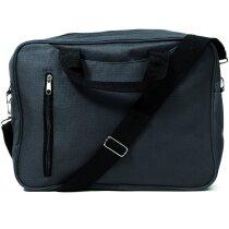 Bolsa de congresos con espacio en varios colores personalizada negra