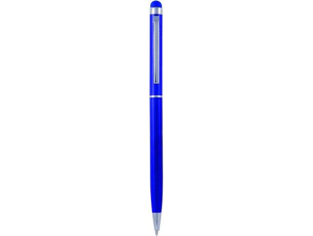 Bolígrafo sofisticado en aluminio con puntero personalizado azul