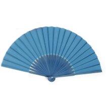 Abanico de color liso en varios modelos personalizado azul