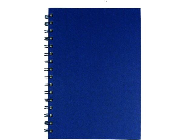 Libreta A5 con 80 hojas personalizada azul