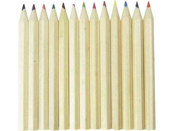 Lápices de colores con logo