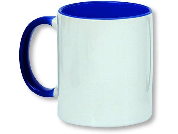 Taza para sublimación con asa de color personalizada azul