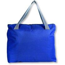 Bolso para la playa con cremallera personalizada azul