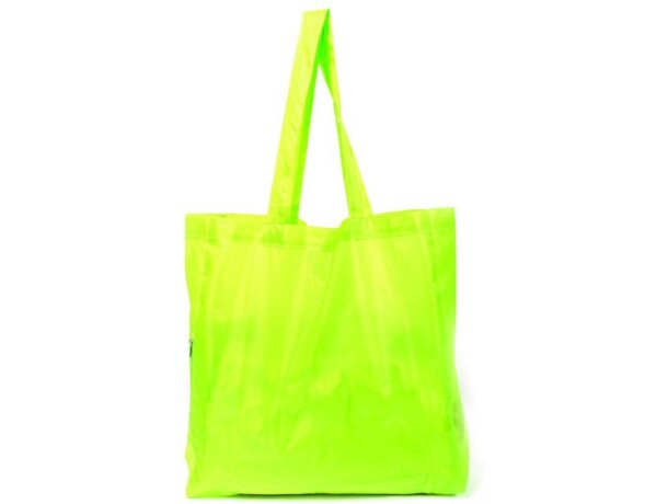 Bolsa plegable con cremallera amarilla merchandising