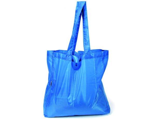 Zipp bolsa plegable con cremallera barata azul