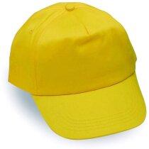 Gorra básica de niños con ojetes personalizada amarilla