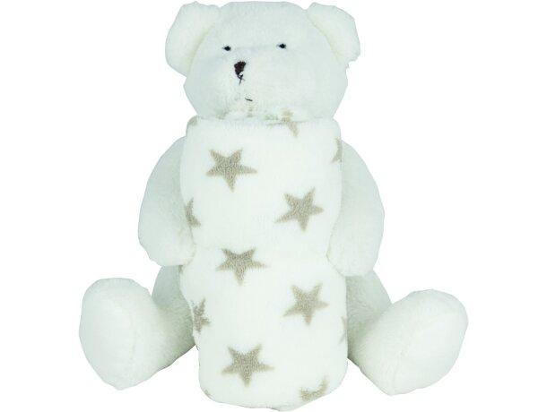 Manta polar de viaje con oso