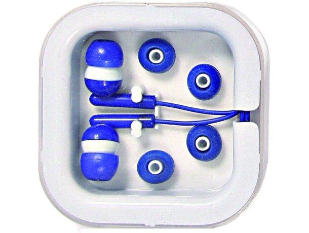 Cascos auriculares hifi en caja personalizado azul