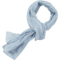 Foulard de algodón para señora gris con logo