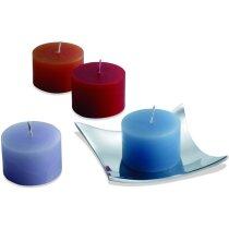 Set de 4 velas aromáticas en bandeja de metal personalizado