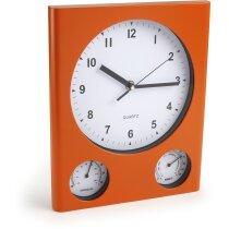 Reloj de pared rectangular con termómetro e higrómetro personalizado