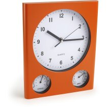 Reloj personalizado de pared rectangular con termómetro e higrómetro personalizado