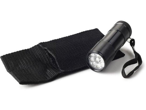 Linterna metálica de 9 leds personalizada