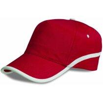 Gorra de color con perfil blanco personalizada
