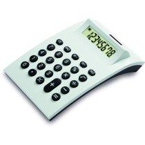 Calculadora de sobremesa blanca