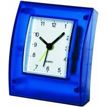 Reloj de sobremesa con marco transparente personalizado