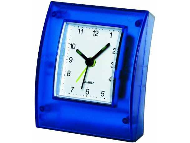 Reloj de sobremesa con marco transparente
