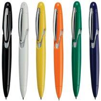 Bolígrafo a color con detalles en plata personalizado
