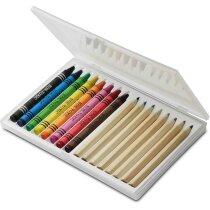 Estuche con lápices y ceras personalizada