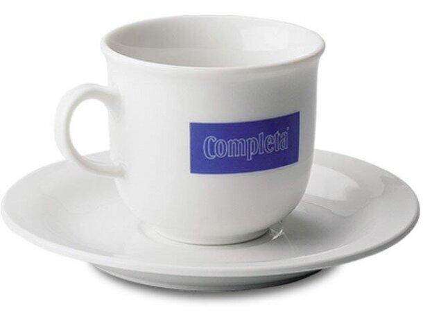 Juego de taza de café y plato en blanco mate personalizado