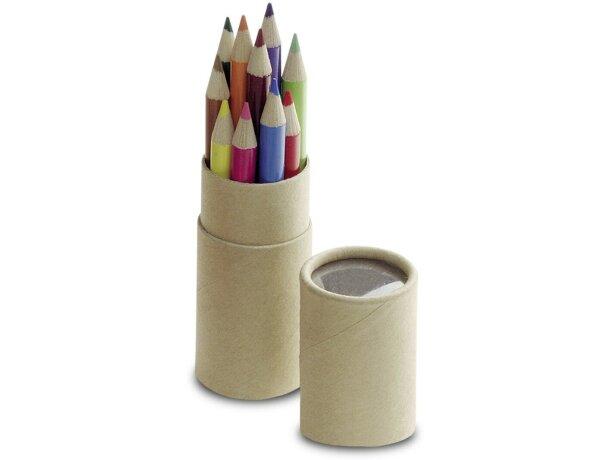 Estuche mini con 12 lápices de colores personalizado