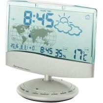 Estación meteorológica con la hora mundial personalizada