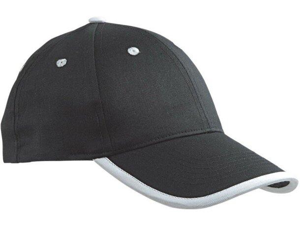 Gorra de Algodón Twill con ribete de color blanco personalizada