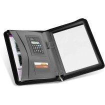 Portafolios con cierre de cremallera y calculadora personalizado