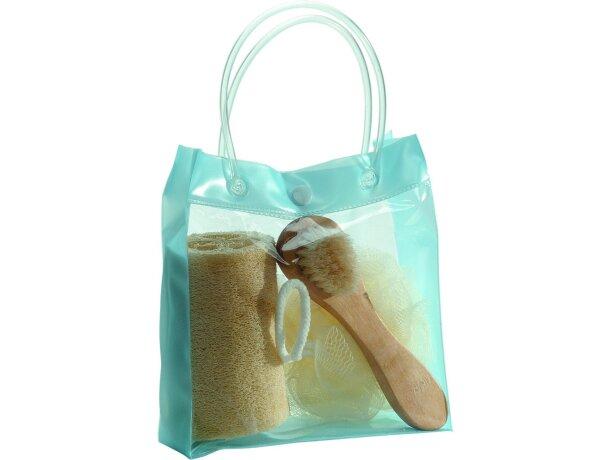 Set de baño en bolsa transparente personalizado