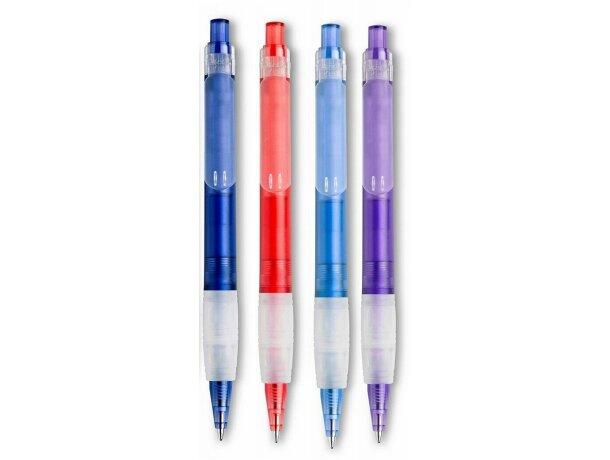 Bolígrafo de colores con detalles traslúcidos personalizado