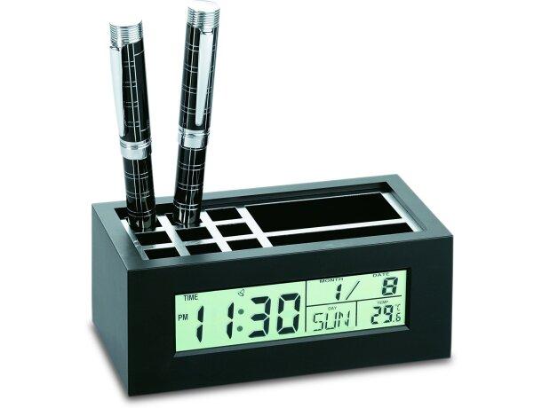 Cubilete para lápices con reloj y calendario personalizado
