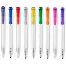 Bolígrafo traslúcido con clip a color personalizado
