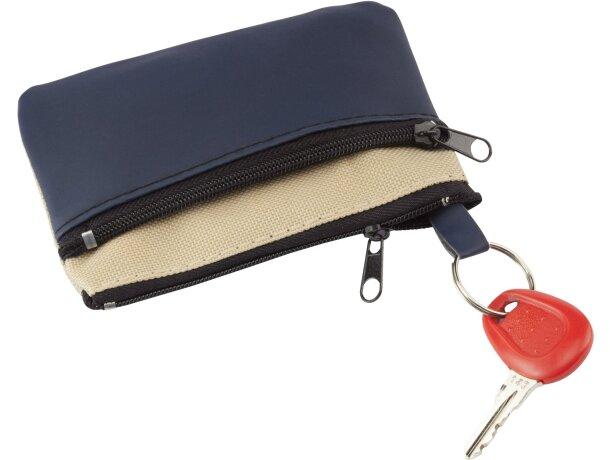Monedero con anilla de llavero y dos bolsillos personalizado