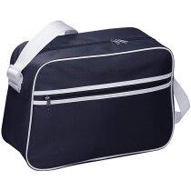 Bolsa de viaje con rayas y ribete blanco personalizada