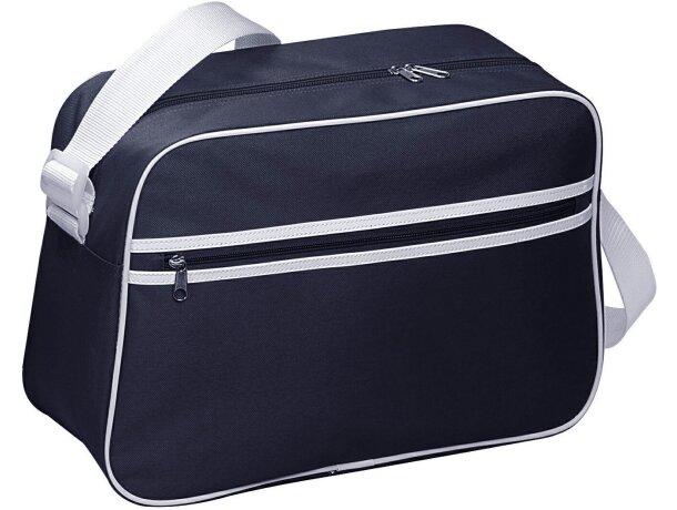 Bolsa de viaje con rayas y ribete blanco