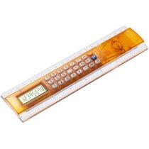 Regla calculadora con centimetros y pulgadas en colores