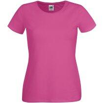 Camiseta corte femenino de mujer fucsia