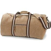 Bolsa de viaje de algodón con correas retro personalizada