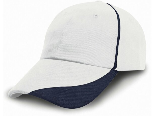 Gorra de 6 Paneles con diseño moderno personalizada blanco/negro