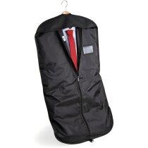 Funda de traje con cierre de corchete personalizada negra