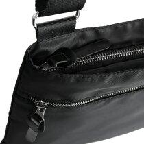 Bandolera con bolsillos con cremallera personalizada negra