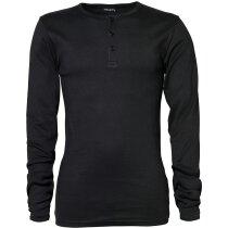Camiseta manga larga ajustada d ehombre gruesa 240 gr personalizada negra