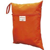Funda para guardar chalecos de seguridad con logo naranja fluor